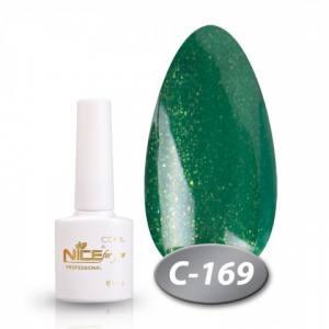 Гель-лак Nice 8.5мл серия cool C169 зеленый с шиммером