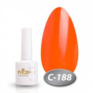 Гель-лак Nice 8.5мл серия cool C188 неоновый оранжевый