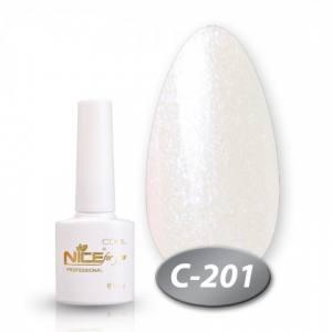 Гель-лак Nice серия cool 8.5мл C201 жемчужный