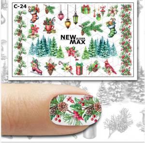 Слайдер-дизайн для ногтей New Max C-24