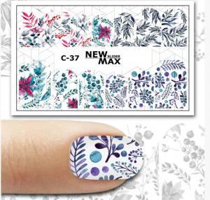 Слайдер-дизайн для ногтей New Max C-37