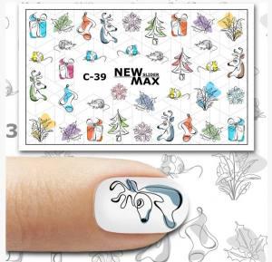Слайдер-дизайн для ногтей New Max C-39