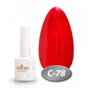 Гель-лак Nice серия cool C78 8.5мл яркий  красный