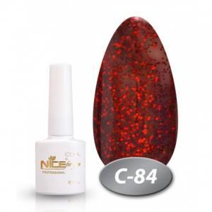 Гель-лак Nice 8.5мл  серия cool C84 вишня с блеском