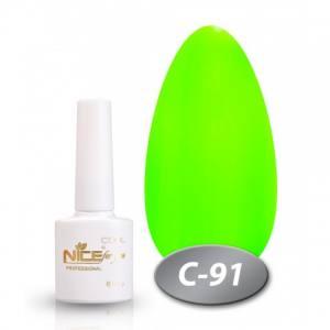 Гель-лак Nice 8.5мл  серия cool C91 неоновый зеленый
