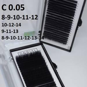 Ресницы черные микс Onrial C 0.05 (21линия)