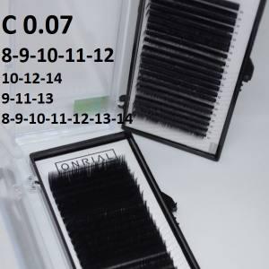 Ресницы черные микс Onrial C 0.07 (21линия)