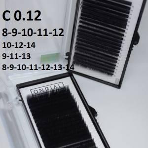 Ресницы черные микс Onrial C 0.12 (21линия)