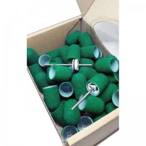Одноразовые колпачки Мультибор  из твёрдого пластика Зеленые абр.80