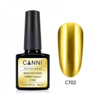 Гель-лак зеркальный CANNI №702 золото