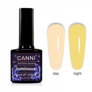 Гель-лак CANNI Luminous 806 крем-брюле - солнечный желтый 7,3 ml