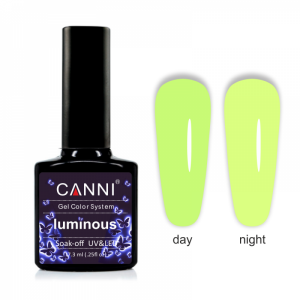 Гель-лак CANNI Luminous 809 желтый неон - лайм 7,3 ml