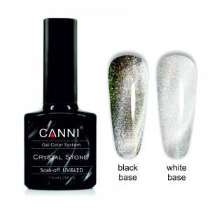 Гель-лак CANNI Crystal Stone 901 серебро/зеленый 7,3 ml