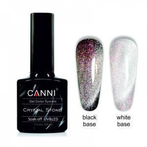 Гель-лак CANNI Crystal Stone 902 серебро/бордовый 7,3 ml