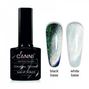 Гель-лак CANNI Crystal Stone 904 серебро/изумрудный 7,3 ml