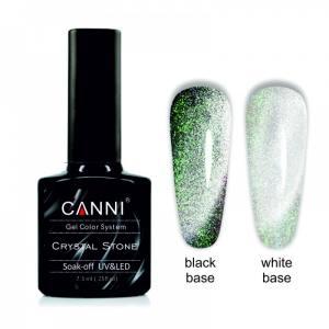 Гель-лак CANNI Crystal Stone 905 серебро/золотисто-зеленый 7,3 ml
