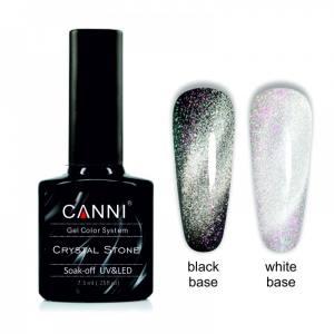 Гель-лак CANNI Crystal Stone 906 серебро/розовый 7,3 ml