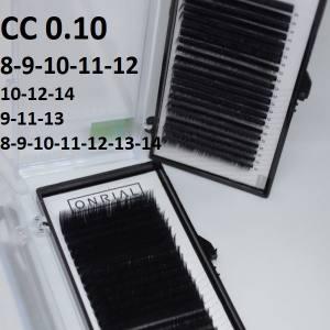 Ресницы черные микс Onrial CC 0.10 (21линия)