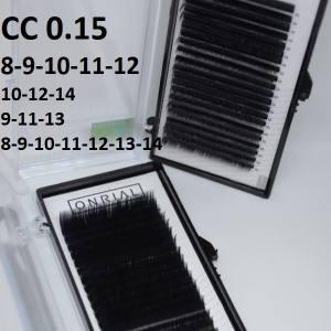 Ресницы черные микс Onrial CC 0.15 (21линия)