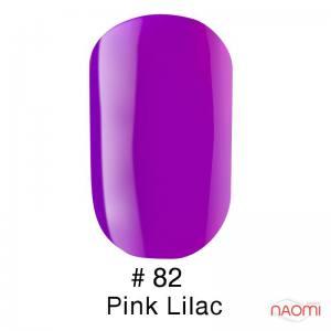 Гель-лак Naomi Gel Polish 82 - Pink Lilac, 6 мл яркий фиолетовый.