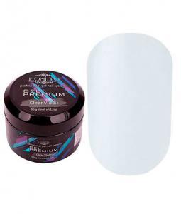 Прозрачно-голубой гель для наращивания Komilfo Gel Premium Clear Violet 50 г