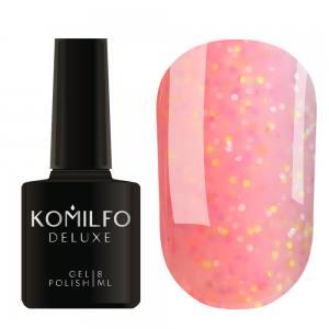 Гель-лак Komilfo Confetti Collection CN012 (приглушенно-розовый с разноцветной крошкой), 8 мл