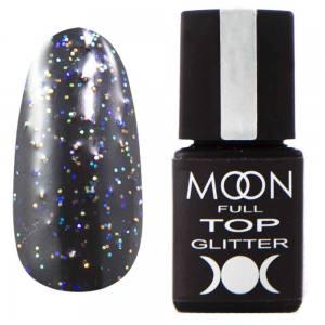 Top Glitter MOON FULL №1 Rainbow (прозрачный с разноцветным микроблеском), 8 мл