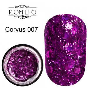 Komilfo Star Gel №007 Corvus, 5 мл фуксия