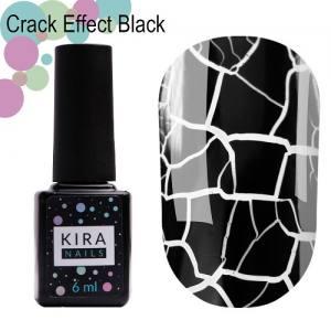 Гель-лак Kira Nails Crack Effect Black, черный 6 мл