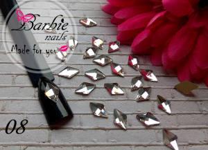 Стразы фигурные стекло BarbieNails 1шт №8