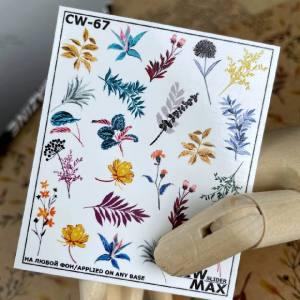 Слайдер-дизайн для ногтей New Max  CW-67