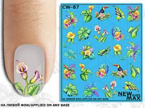Слайдер-дизайн для  ногтей New Max CW-87