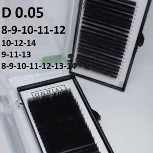 Ресницы черные микс Onrial D 0.05 (21линия)