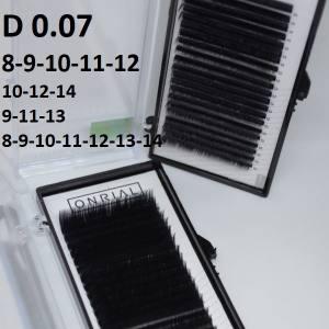 Ресницы черные микс Onrial D 0.07 (21линия)