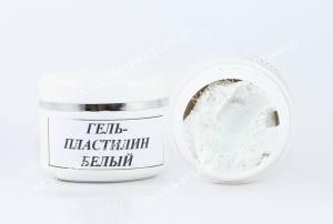 Гель-пластилин для лепки 5г белый