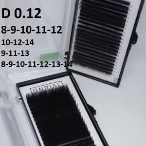 Ресницы черные микс Onrial D 0.12 (21линия)