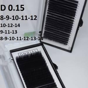 Ресницы черные микс Onrial D 0.15 (21линия)