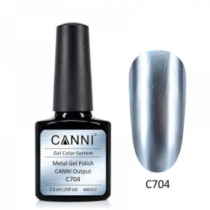 Гель-лак зеркальный CANNI №704 голубое серебро