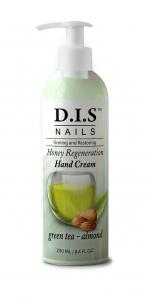 Увлажняющий крем для рук с органическим экстрактом листьев зеленого чая и миндальным маслом DIS nails 250мл