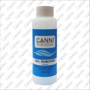 Жидкость для снятия гель-лака Canni Gel remover Fresh, 120 ml