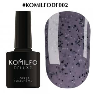 Гель-лак Komilfo Dragon Fruit DF002 (серый с вкраплениями), 8 мл