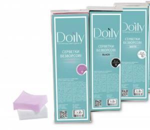 Салфетки безворсовые в коробке-лотке Doily  6.5х4.5см 425шт