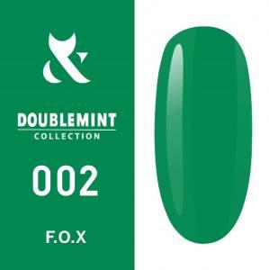 Гель-лак F.O.X DOUBLEMINT №002 (яркая мята, эмаль), 5 мл