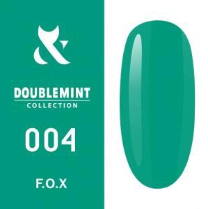 Гель-лак F.O.X DOUBLEMINT №004 (холодный голубовато-зеленый, эмаль), 5 мл