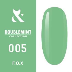 Гель-лак F.O.X DOUBLEMINT №005 (светло-зеленый, эмаль), 5 мл