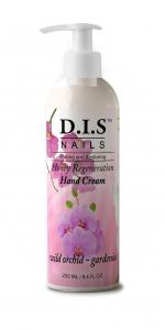 Увлажняющий крем для рук, обладает очень богатым ароматом гардении и орхидеи DIS nails 250мл