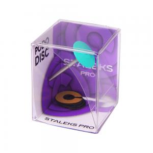 Педикюрный диск пластиковый скошенный со сменным файлом-кольцом STALEKS PRO PODODISC SPDset