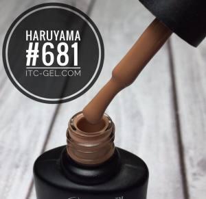 Гель-лак Haruyama Классика №681, темный карамельный,  8 мл