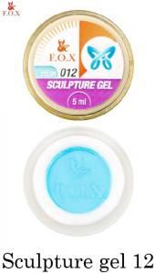 Гель-пластилин F.O.X Sculpture gel №12 голубой