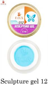 Гель-пластилин F.O.X Sculpture gel №12 голубой